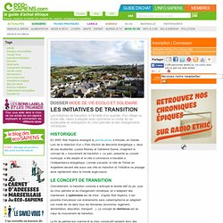 Les initiatives de transition