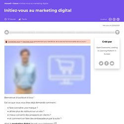 Initiez-vous au Marketing Digital