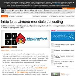 Inizia la settimana mondiale del coding