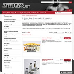 Buy Genuine Injectable Steroids from Online Shop