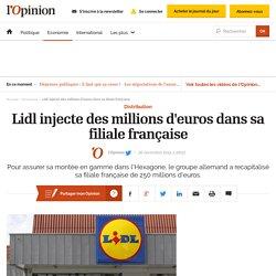 Lidl injecte des millions d'euros dans sa filiale française