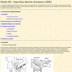 Partie B5 : Injection directe d'essence