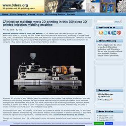 Injection molding meets 3D printing in this 300 piece 3D printed injection molding machine