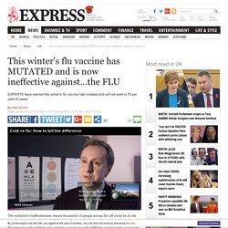 Virus nhs winter flu injection mutated ineffective ill