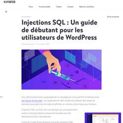 Injections SQL : Un guide de débutant pour les utilisateurs de WordPress