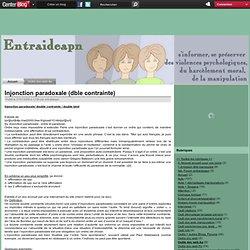 Injonction paradoxale (dble contrainte)