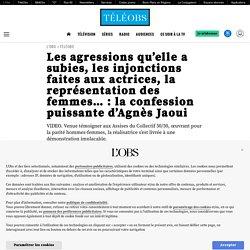 Les agressions qu'elle a subies, les injonctions faites aux actrices, la représentation des femmes…: la confession puissante d'Agnès Jaoui