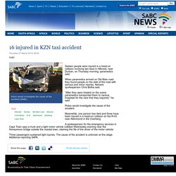 16 injured in KZN taxi accident:Thursday 27 March 2014
