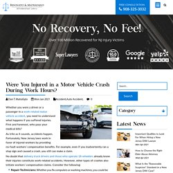 Were You Injured in a Motor Vehicle Crash During Work Hours?