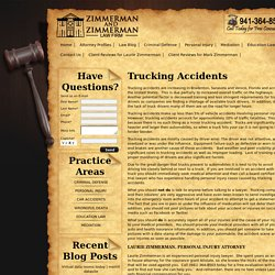 Know about Injured by Truck Lawyer within Sarasota – Laurie Zimmerman