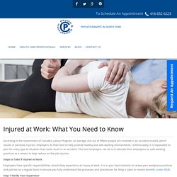 Injured at Work: What You Need to Know - PCRehabServices