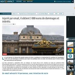 Injurié par email, il obtient 3 000 euros de dommages et intérêts