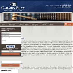 San Antonio, Texas Traumatic Brain Injury Lawyer Carabin & Shaw