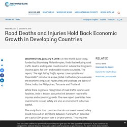 Road Deaths and Injuries Hold Back Economic Growth in Developing Countries