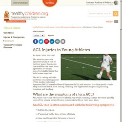 ACL Injuries in Young Athletes