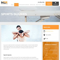 Sports Injuries Treatment in Arlington VA