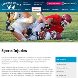 Sports Injuries Treatment in oak park, clinton township MI