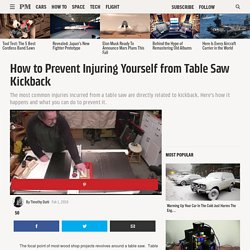 How to Prevent Injuring Yourself from Table Saw Kickback - Tips for Safely Using a Table Saw