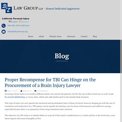 Proper Recompense for TBI Can Hinge on the Procurement of a Brain Injury Lawyer