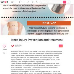 Knee Injury Prevention and treatment on We Heart It