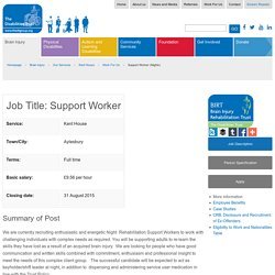 Brain Injury Rehabilitation Trust (BIRT) : Support Worker (Nights)