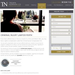 Top Rated Criminal Injury Lawyers in Perth - Trewin Norman and Co