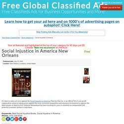 Social Injustice in America New Orleans