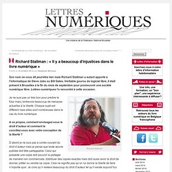 Richard Stallman : «Il y a beaucoup d'injustices dans le livre numérique»