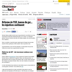 Réforme de l'ISF, hausse du gaz... les injustices continuent