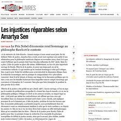 Les injustices réparables selon Amartya Sen