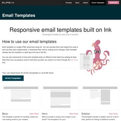 Ink: Responsive Email Templates
