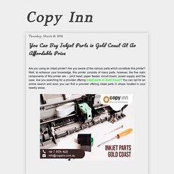 You Can Buy Inkjet Parts in Gold Coast At An Affordable Price