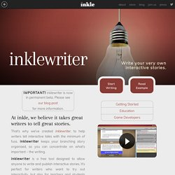 inkle » inklewriter