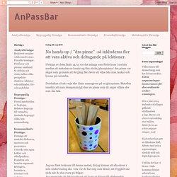 """AnPassBar: No hands up / """"dra pinne"""" -så inkluderas fler att vara aktiva och deltagande på lektioner."""