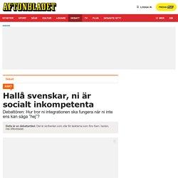 Svenskars sociala inkompetens är ett samhällsproblem, skriver Gabriel Kuhn