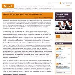 Inkopers nog een lange weg te gaan naar duurzaamheid | NEVI