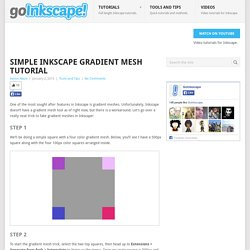 Simple Inkscape Gradient Mesh Tutorial