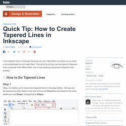 How to Create Tapered Lines in Inkscape