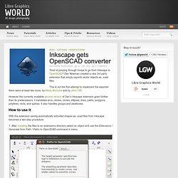 Inkscape gets OpenSCAD converter