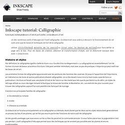 Inkscape : tutoriel Calligraphie