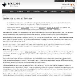 Inkscape : tutoriel formes