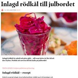 Inlagd rödkål – recept