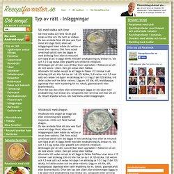 Recept - Inläggningar - Underkategorier och recept