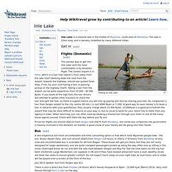 Inle Lake travel guide