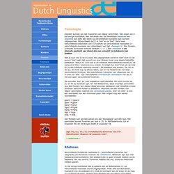 Inleiding Nederlandse Taalkunde: Fonologie