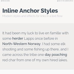 Inline Anchor Styles