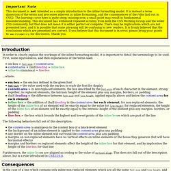 Inline formatting model