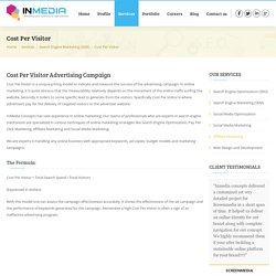InMedia Concepts - Cost Per Visitor