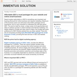 INMENTUS SOLUTION: Affordable SEO a must packages for your website and online small business