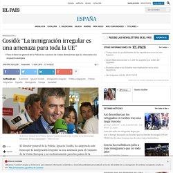 """Cosidó: """"La inmigración irregular es una amenaza para toda la UE"""""""